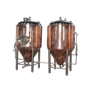 DYE 50L-5000L Copper Single Layer Beer Fermenters Jacketed Fermentation Tank for Sale