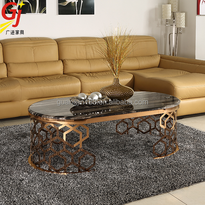 morden marble coffee table with chrome coffee table legs