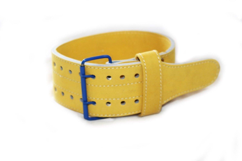 "Ultra Fitness Gear 4"" Classic Leather Weight Lifting Belt (Golden)"