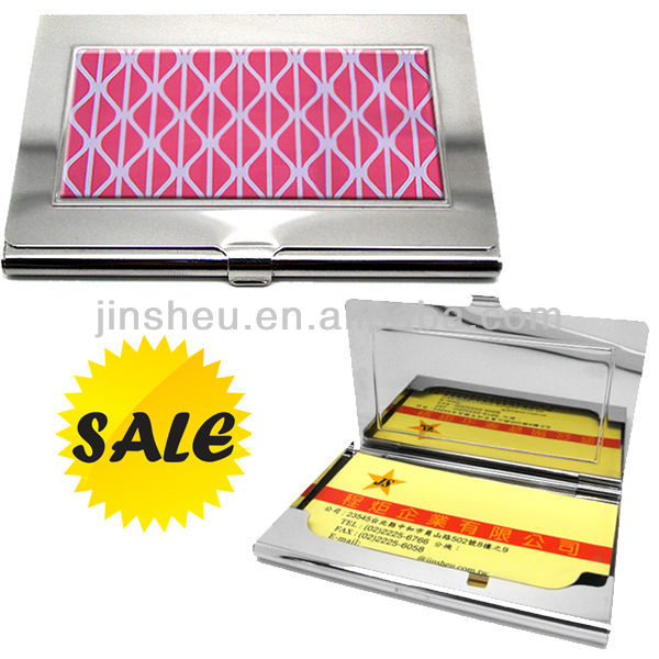 wholesale custom metal business aluminium card case