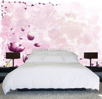 Interior 3d Flower Wallpaper Wall Mural For Bedroom