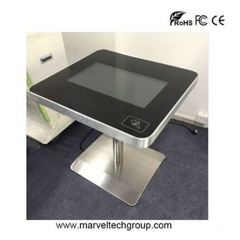 Small Table For Cafe LCD Interactive Coffee Table 22 Inch Touch Screen  Conference Table
