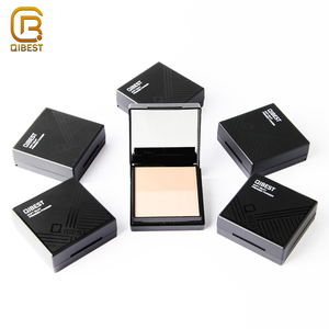 QIBEST Brand Makeup Foundation Oil Control Waterproof Compact Setting Face Powder For Oily Skin