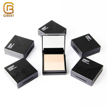 QIBEST ยี่ห้อ Makeup Foundation White Oil Control กันน้ำ Pressed Face Powder สำหรับผิวมัน