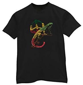 Peace Iguana T-Shirt Rasta