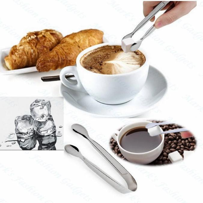 300pcs Mini Ice Clamp Stainless Steel Coffee Sugar Tongs Tool Bar Barbecue BBQ Clip Kitchen Accessories Portable