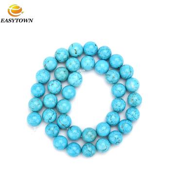 f4c1061702f7 Venta al por mayor cuentas de piedra Natural de piedras preciosas de color  turquesa encanto accesorios