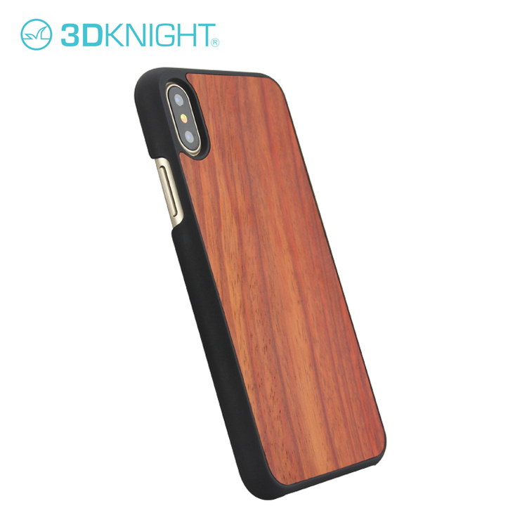 Genuine Natural Wooden Hard PC Back Cover Phone Cases For iPhone X