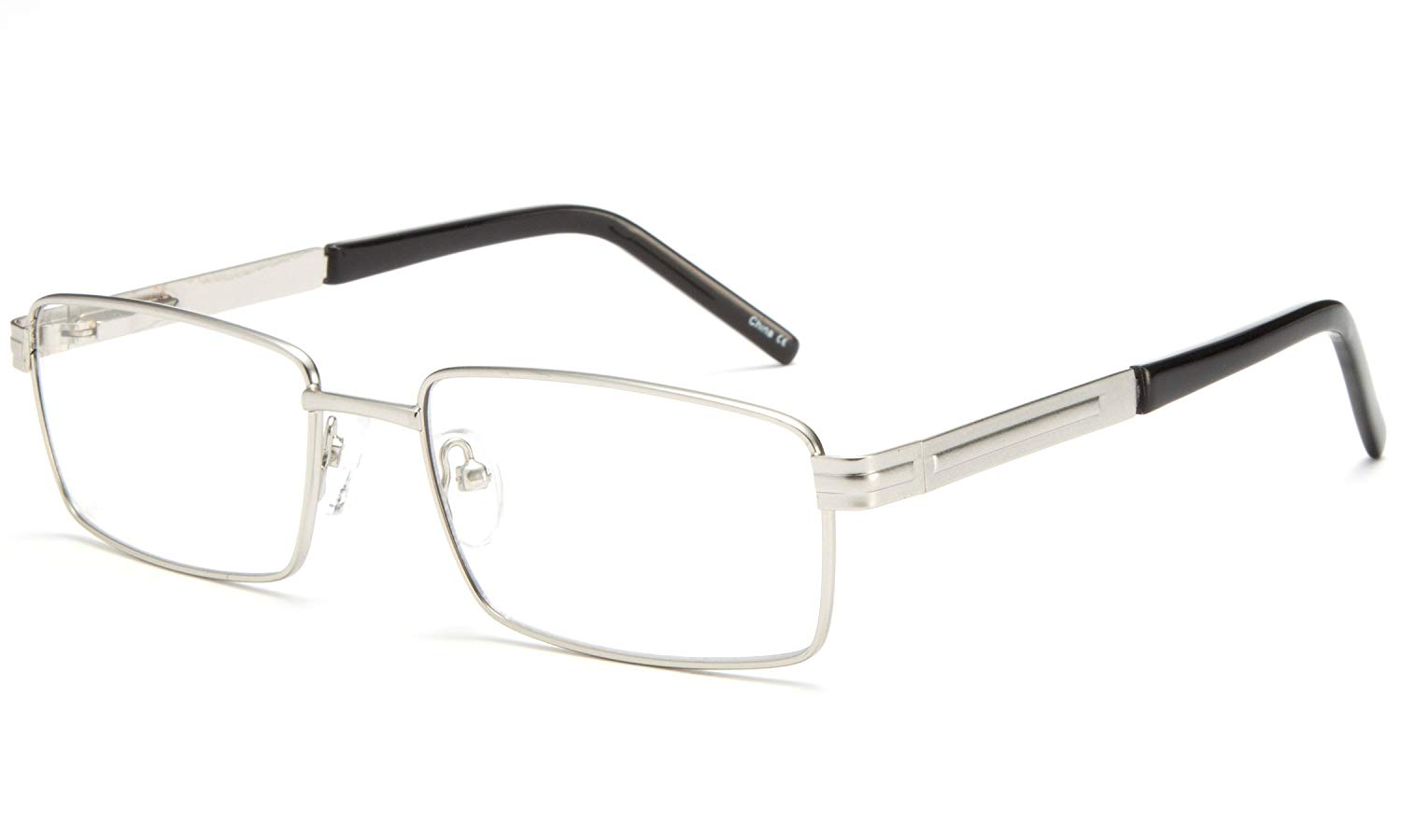 Newbee Fashion - Light Weight Metal Frame Squared Durable Reading Glasses with Spring Temple