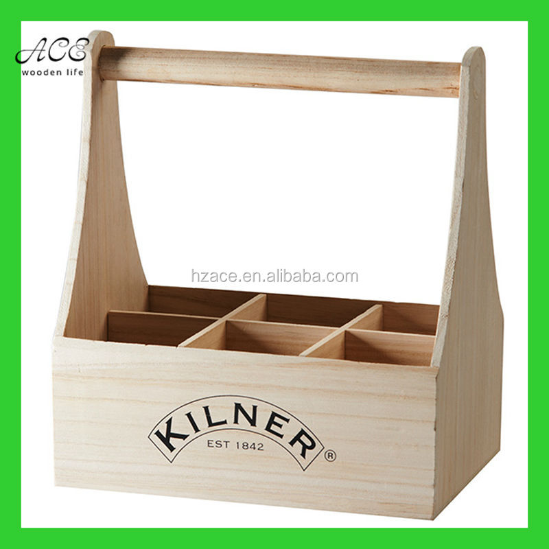 Wooden bottle caddy Wine bottle caddy Beer bottle caddy