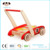 Eco-friendly Kids baby doll pram stroller wooden puzzle