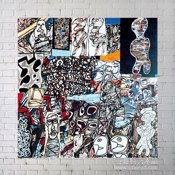 Famous Painting Reproduction of Jean Dubuffet oil painting on Canvas