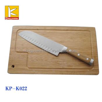 2pcs stainless steel craft kitchen knife set with bamboo for Kitchen craft knife set