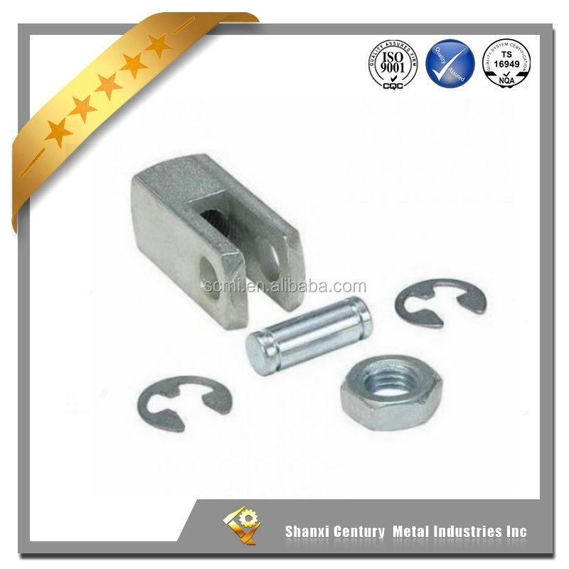 Cylinder Mounting Hardware Aluminium Rod Clevis with pin