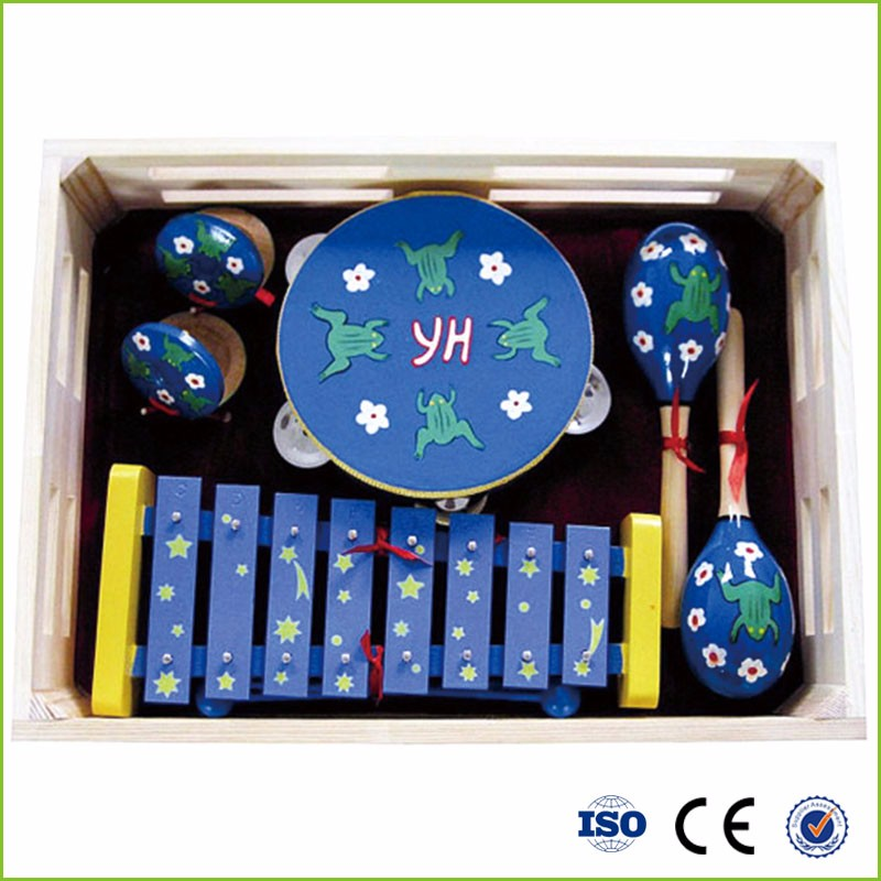 wholesale professional preschool wooden musical instrumebaby EN71 standard colorful Children Percussion Set Musical toy for kids
