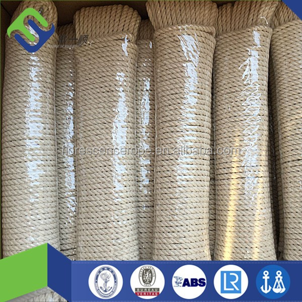 Factory price 100% natural twisted / braided cotton rope