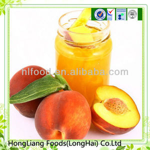 Fresh canned yellow peach in syrup