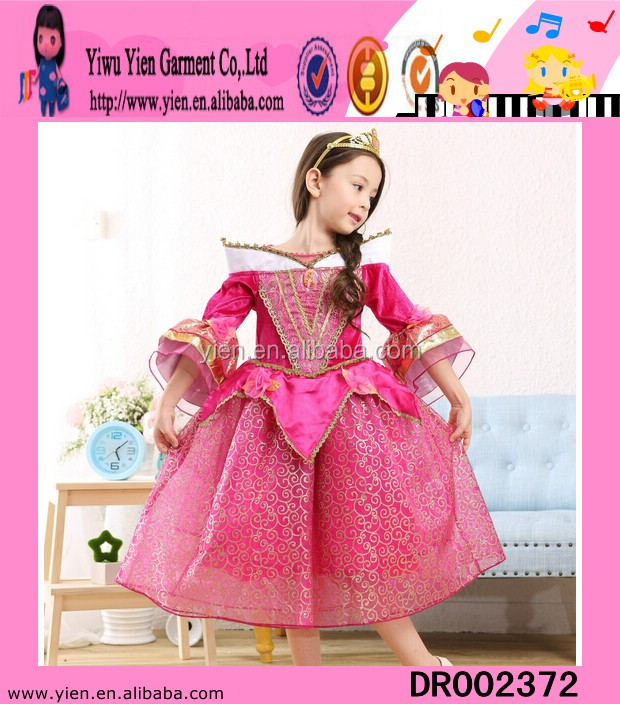 2015 real mode hot sale Sofia Princess dress boutique shop latest design cheaper baby teenage party dress