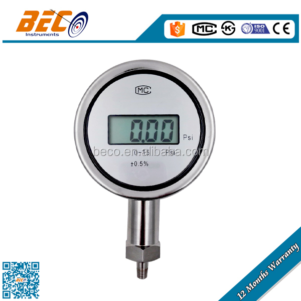 100 mm all stainless steel water digital pressure gauge wika