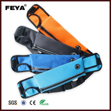 High quality adjustable neoprene waist bag running belt with bottle