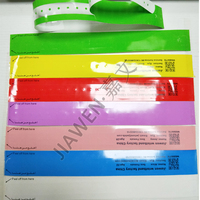 Festival event paper wristbands MA270 , medical bracelet Id. band for hospital and festival,with transparent plastic base