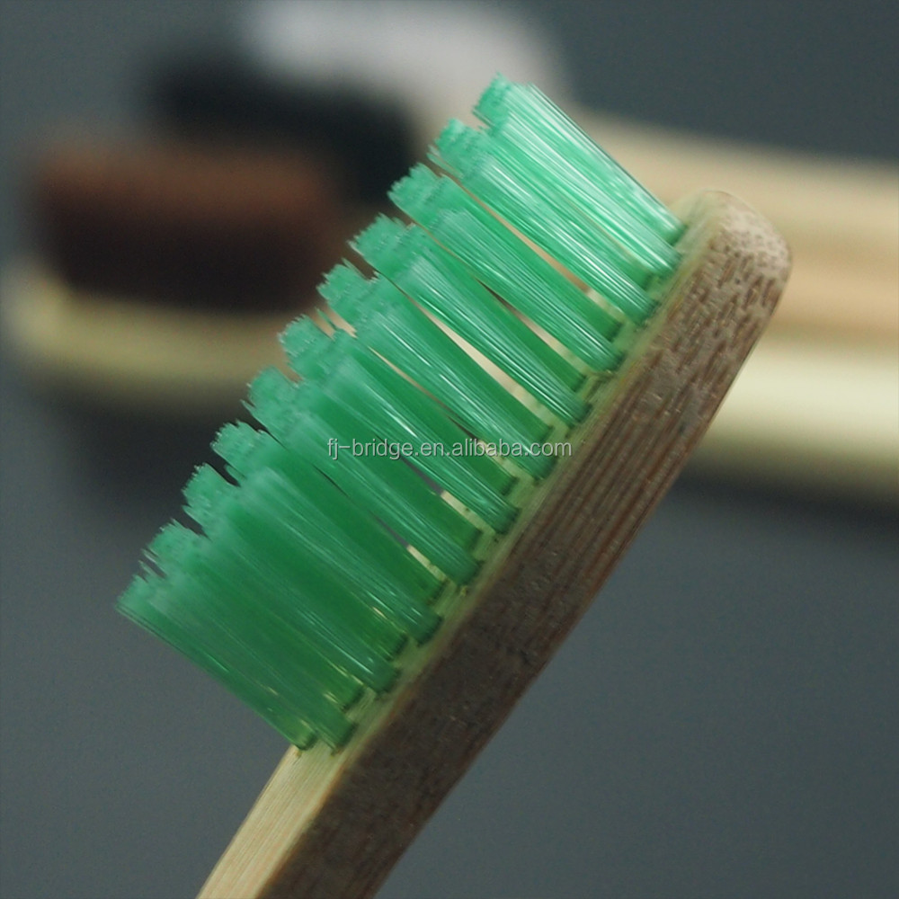 Multi Color Environment Eco Friend Bamboo Bristles Tooth Brush