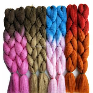 Pervado Hair Light Brown Blonde Ombre K Braiding Hair Extensions One Piece 100g/Pack 24Inch 65CM Synthetic Jumbo Braids