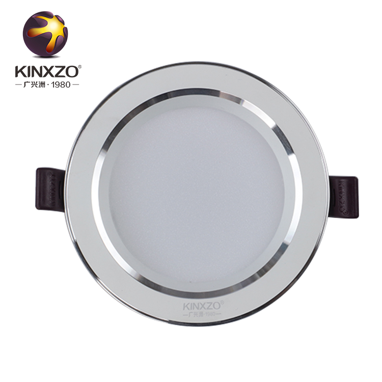 Anti-reflexo ultra slim CRI80 IP44 downlight SMD luz de teto redonda