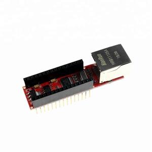 KJ453 ENC28J60 Ethernet Shield V1 0 Arduinos Nano V3 Ethernet Shield RJ45  HR911105A Webserver Module With Pins