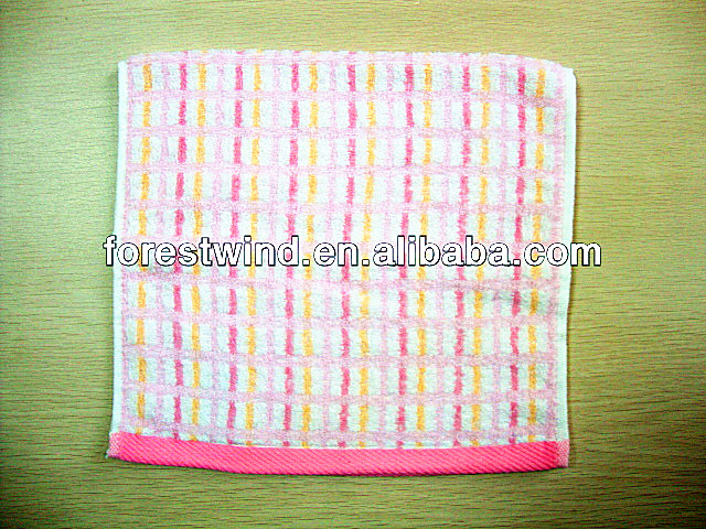 2016 best selling sports towel yarn dyed organic cotton face towel with stipes