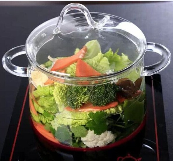 Hot sale Borosilicate Heat Resistant Pyrex Clear Glass Cooking Pot
