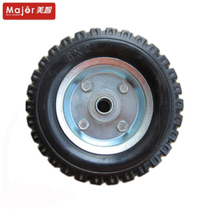 scooter wheels 150mm 6 inch 6X2 solid rubber trolley wheel for sale