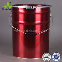 empty 20L metal chemical pail/ bucket manufacturers