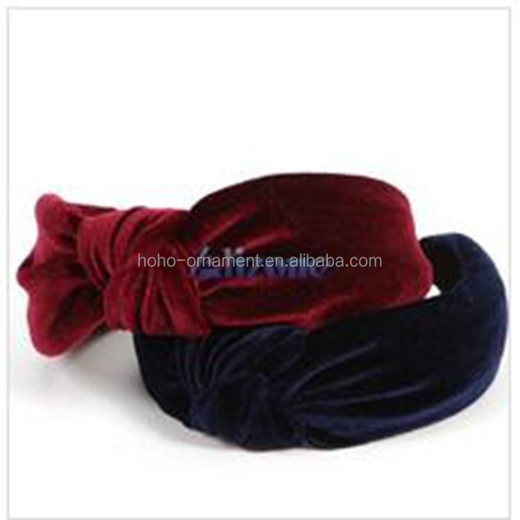 Fashion Fuzzy big Bow hair band hair accessories wholesale