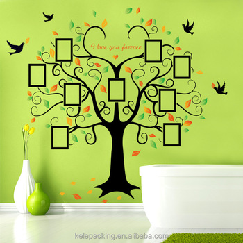 88085e44e Family Tree Wall Decal 9 Large Photo Pictures Frames. Peel and Stick Wall  Decal