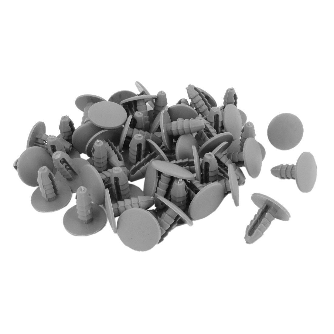 Plastic Rivet - TOOGOO(R) 50PCS 8mm Hole Gray Plastic Rivet Door Push in CLip for Car