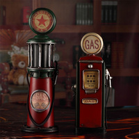 Antique Classical Model Retro Wrought Metal Crafts For Home Decoration Old Gas Pump Vintage Decor