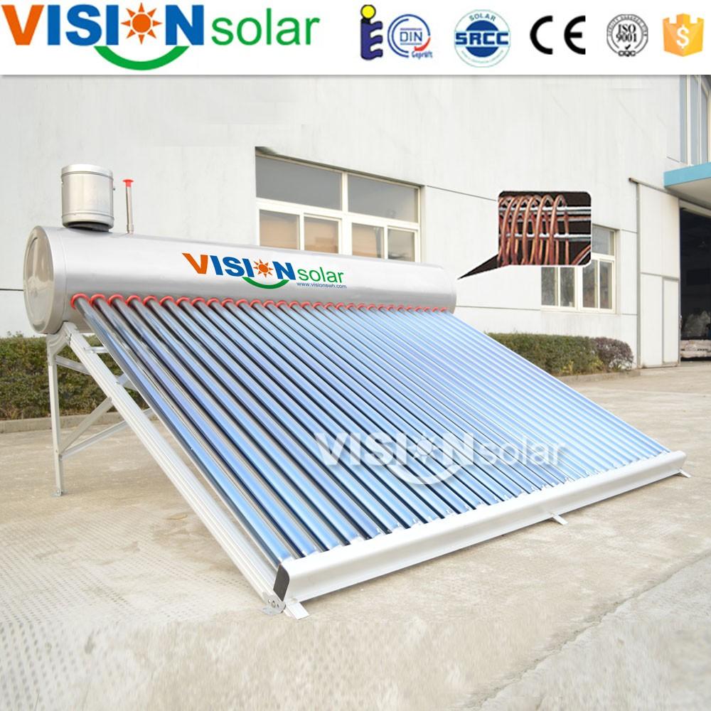 High Pressure Copper Coil Solar Water Heater, High Pressure Copper ...