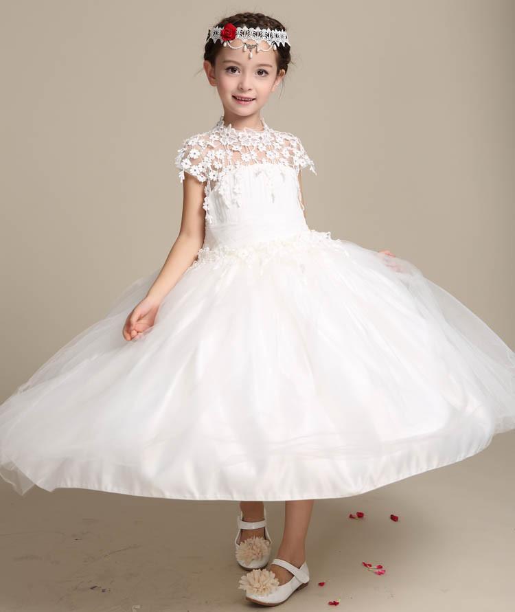 5bfd419b4f6e6 2017 أحدث تصميم فساتين أطفال بنات الرباط فستان طويل حزب اللباس بنات فساتين  الزفاف