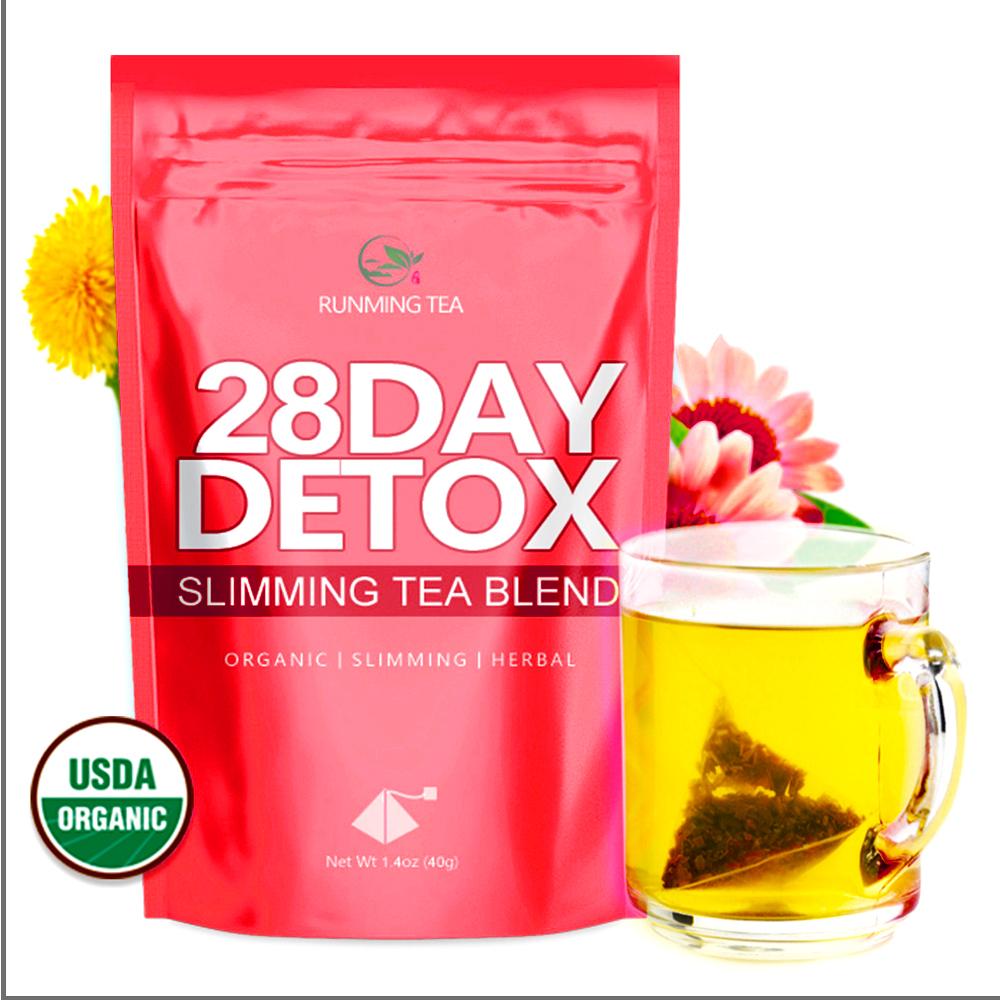 Puer Slim Te bio Detox nourriture produits japon thé 28 jours ultime thé maigre Tox Teatox pyramide marque blanche privée thé maigre