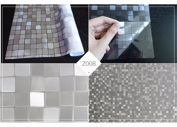 2017 pvc cling protective tint film roll frosted glass film Mosaic window film