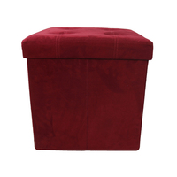 Casual Store Things Microfiber Storage Ottoman