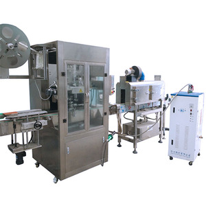 Automatic bottle shrink sleeve labeling packaging and wrapping machine with heat shrink steam tunnel for labeling applicator