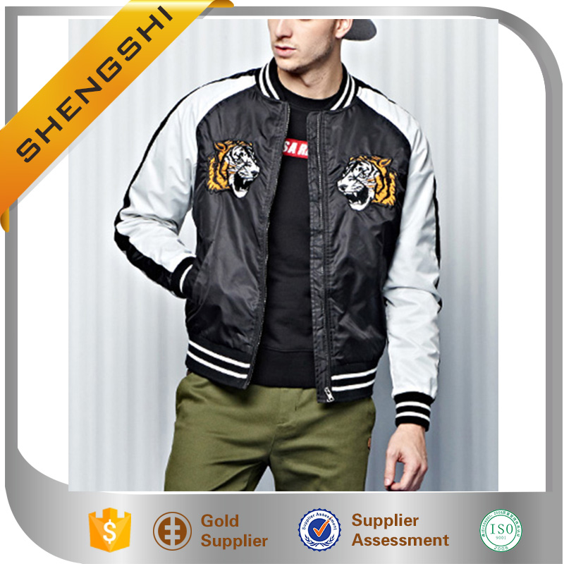 2016 Custom OEM man MA-1 Youth Embroidered Bomber Jacket men