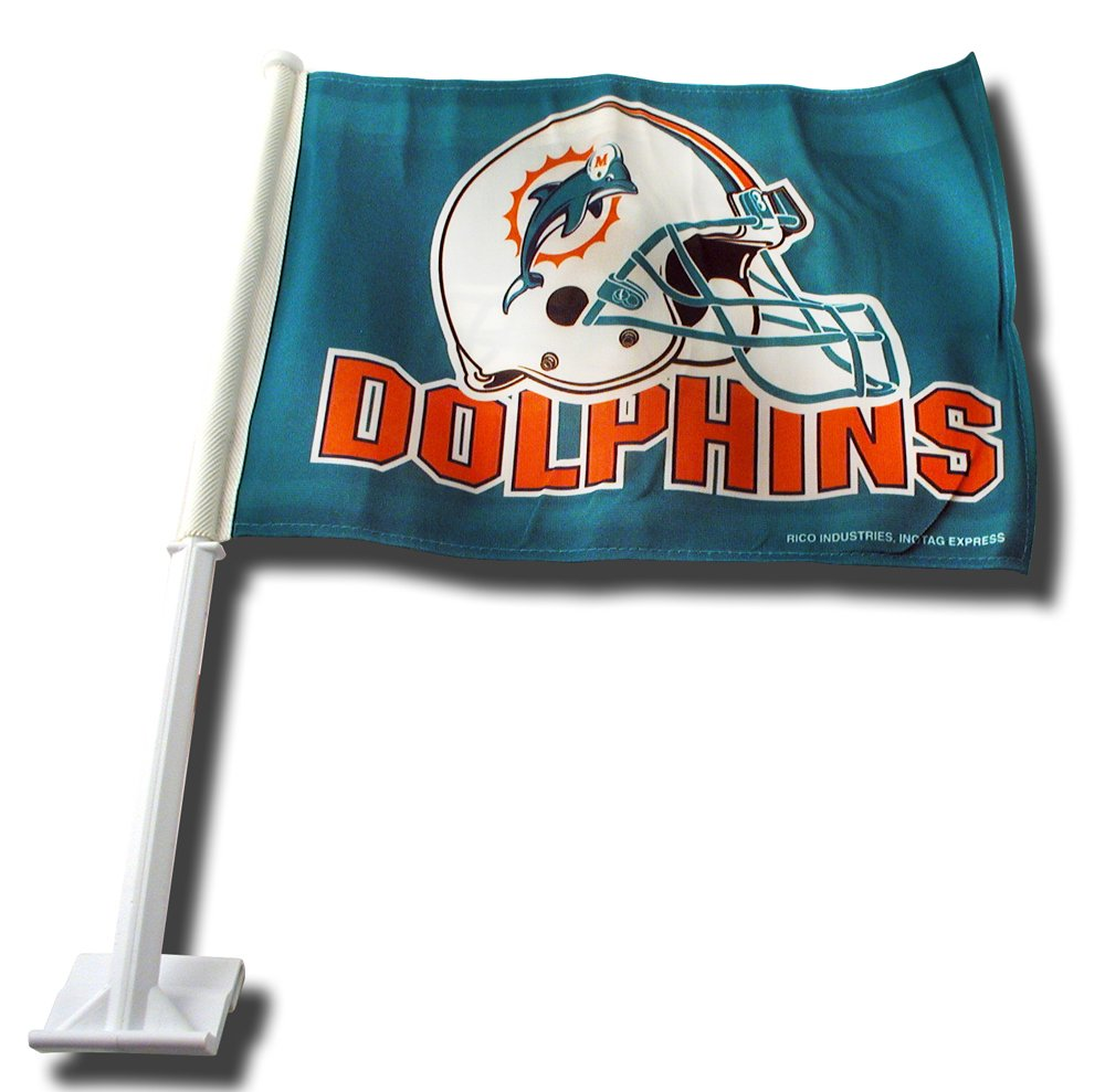 Miami Dolphins Helmet Car Flag