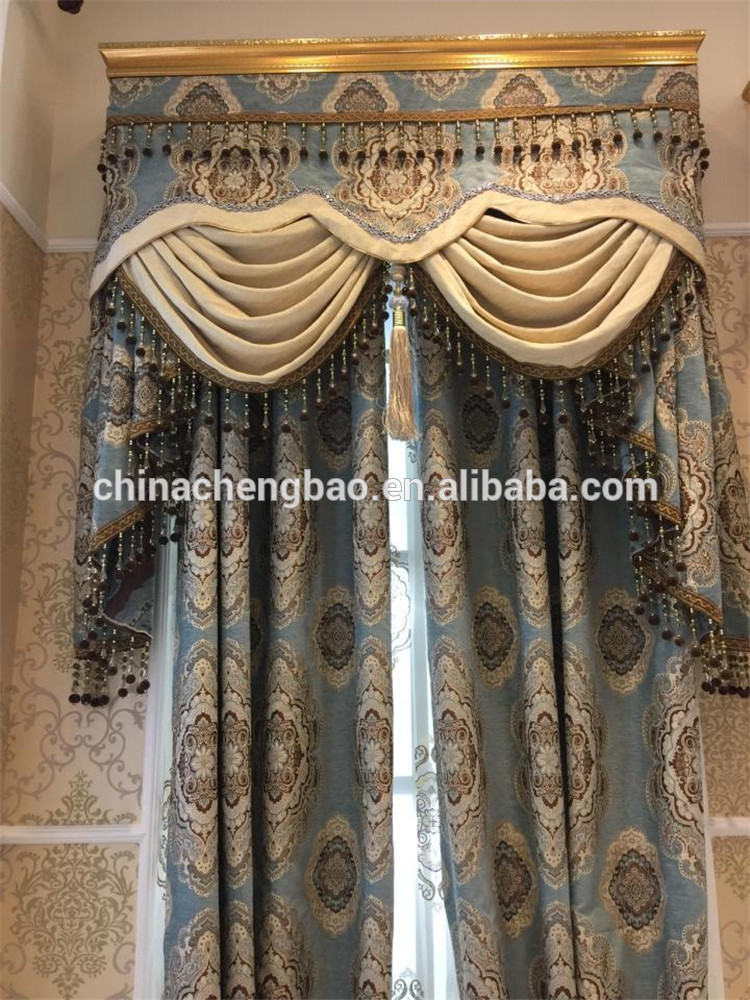 Wholesale Old Fashioned Triple Shadings Royal Curtains