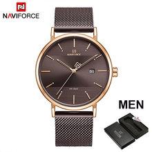 NAVIFORCE Пара часы Элитные кварцевые мужские часы Для женщин простые наручные часы для мужской и женский, водонепроницаемый, подарок для влюбл...(China)
