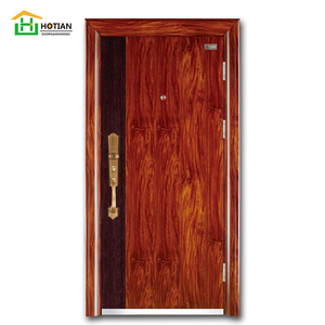 supply latest popular flat metal fire panel door design from chinese manufacturer