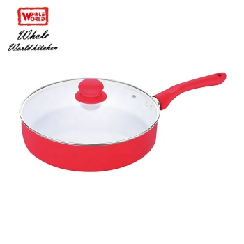 China custom induction mini aluminum deep fry pan with lid