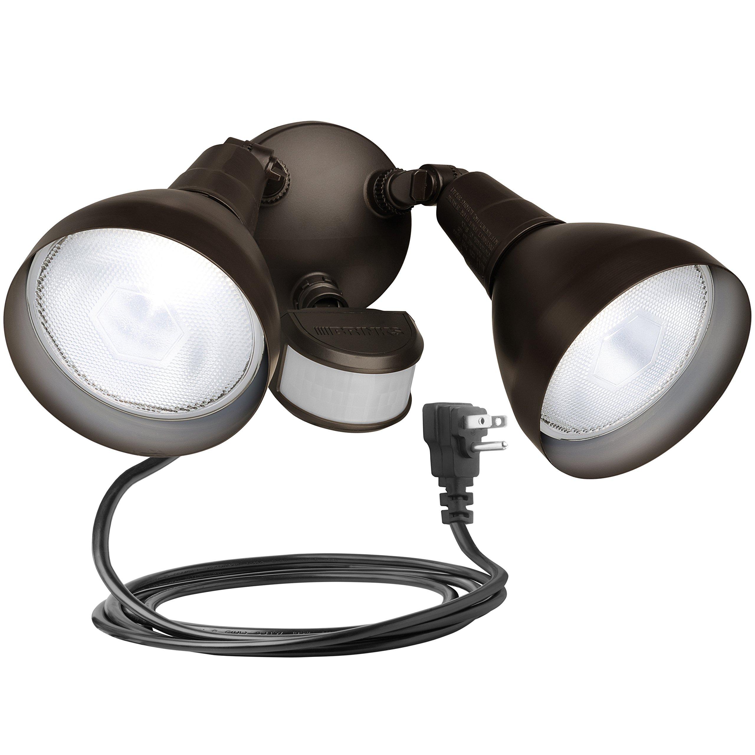 Get Quotations · Brinks 7166BZ-1 LGT Flood 240 Motion Sensor Bronze with  Cord Light